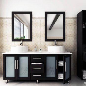 lune double sink vanity